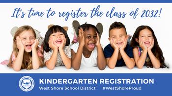 kindergarten registration graphic - time to register