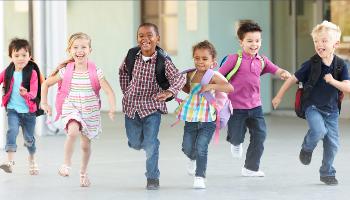 kindergarten running