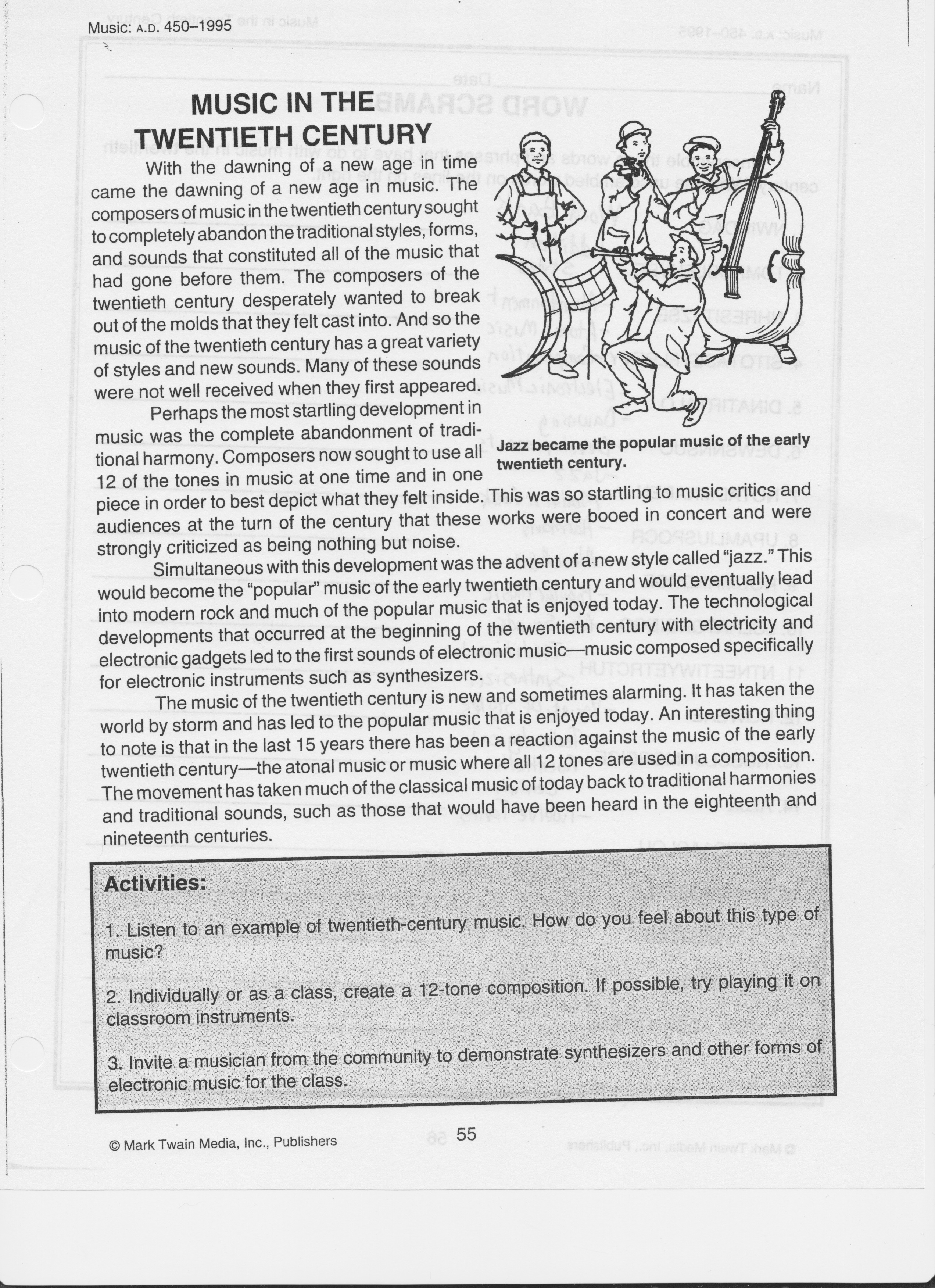 Reading Prompt Booklet Page together with Original together with Original moreover Music In The Th Century Reading additionally Gr Reindeer. on 6th grade passages