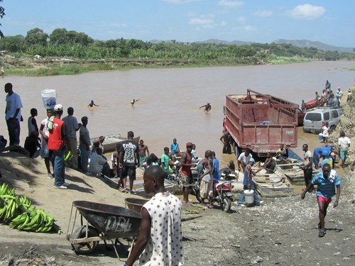 River crossing in Haiti