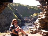 In my window at Findlater Castle ruins