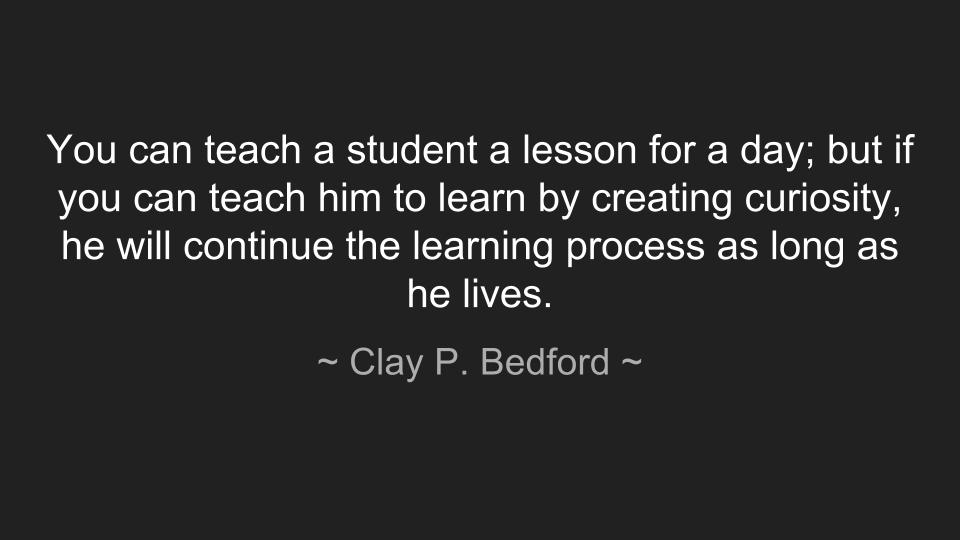 Clay P Bedford quote