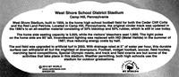 West Shore Stadium - Back