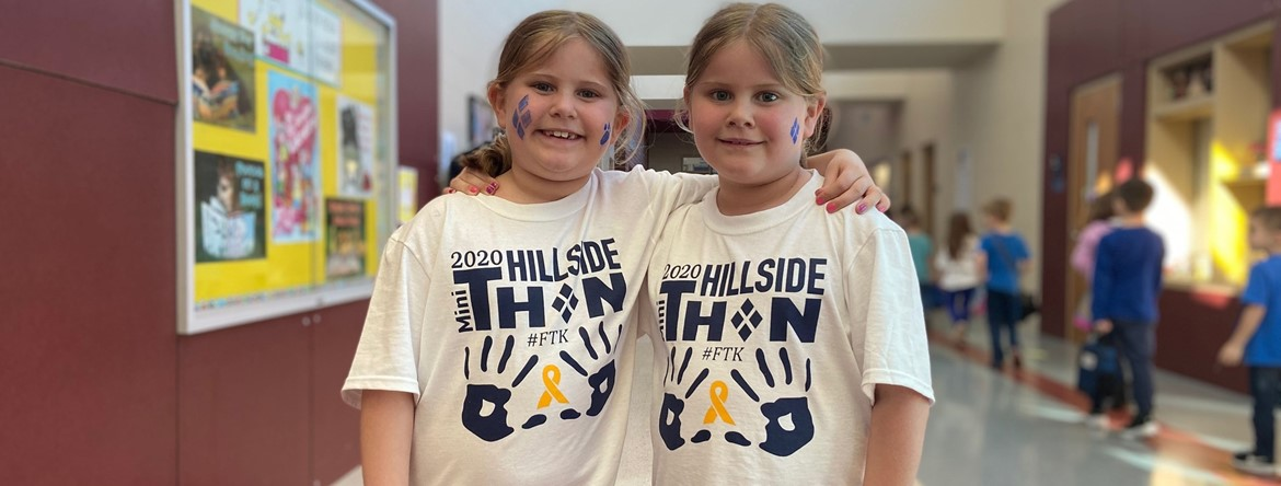 mini thon tshirt wearing twins