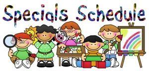 Specials Schedule Clipart