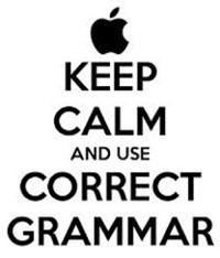 Stay Calm Grammar Picture